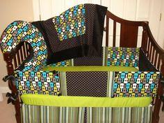 Baby crib Bedding set 4 PC YOU DESIGN Groovy by katyasdesigns, $349.00