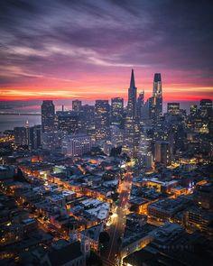 San Francisco Sunrise by @heyengel by photoblog.sanfranciscofeelings.com sanfrancisco sf bayarea alwayssf goldengatebridge goldengate alcatraz california