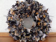 6  Halloween 3 Mini Rag Wreath via Etsy