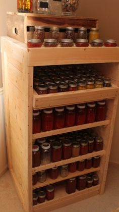 Our Canning Pantry Made From Pallets