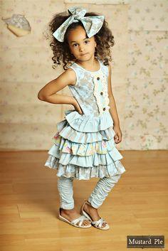 Mustard Pie Clothing - Josephine Dress in Spa Blue