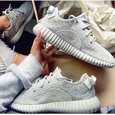 Adidas Women Yeezy Boost Sneakers Running Sports Shoes Grey Adidas women shoes - http://amzn.to/2jB6Udm
