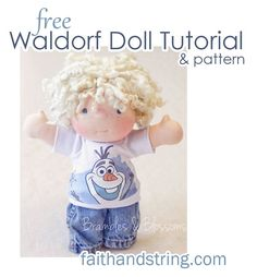 Create a Special Friend for Your Child with These Adorable Free Doll Patterns A handmade doll is a one-of-kind toy that's sure to provide hours of entertainment for the special child in your life. This roundup of free doll patterns Sock Dolls, Doll Toys, Baby Dolls, Child Doll, Dolls Dolls, Tilda Toy, Sewing Dolls, Doll Parts, Waldorf Dolls