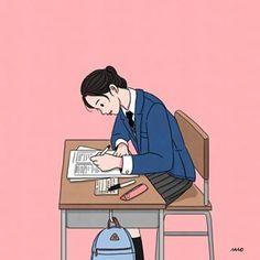 (466)고3수험생 여러분💖 내일 푸는 문제 , 찍는 문제 전부다 다 맞길 기도할게요.  화이팅화이팅 차분한 마음으로 다녀오세요 응원합니다💖☺️ Cute Couple Drawings, Cute Couple Art, Cute Drawings, Korean Illustration, Illustration Girl, Korean Picture, Korean Art, Aesthetic Art, Aesthetic Drawing
