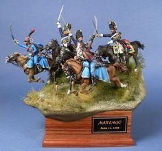 PARVIMILITES - Sito Personale di Mario Venturi Carica della cavalleria della Guardia Consolare francese durante la battaglia di Marengo.