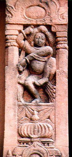 A Dancing gana, Dashavatara temple, Deogarh