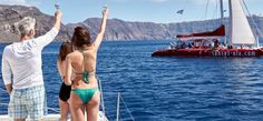 Meet new people on a day cruise with Sunset Oia Sailing Cruises
