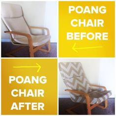 IKEA POANG CHAIR -recovered and new cushion added.