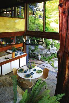 1956 Industrial Designer Russel Wright's Home - Dragon Rock Architect: David Leavitt | Photo: Masca, courtesy Manitoga, Inc., Russel Wright Design Center