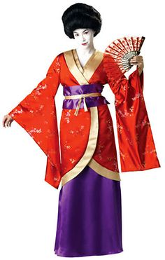Elite Geisha Costume In Character Costumes Elite Geisha Costume, a premier high quality womens costume. Authentic look, Satin under,gown, Japanese floral
