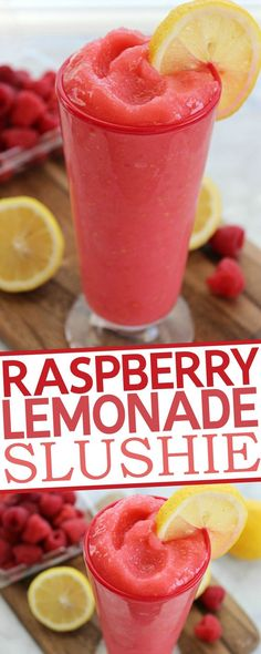 Amazing Raspberry Lemonade Slushie. | mother's recipes