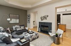 Double Sided Gas Fireplace, Eaton Centre, Concrete Ceiling, Toronto Photos, Multi Family Homes, Cork Flooring, Guest Suite, Window Wall, Workout Rooms