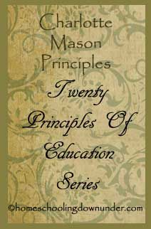 An entire series dedicated to the different principles of Charlotte Mason | www.thecharlottemasonway.com