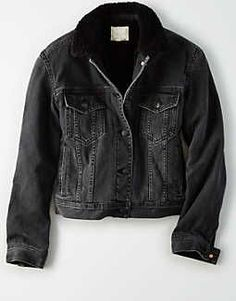 576830c8877ef Topshop Moto Cropped Borg Denim Jacket ( 80) ❤ liked on Polyvore featuring  outerwear