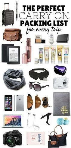 The Perfect Carry On Packing List! Click to learn how to pack your carry on bag like a pro for every trip - inc Tech, Comfort & Style **************************************************************************** Pack Like A Pro | Carry On Packing List | What To Pack In Your Carry On | Packing Tips | Packing List