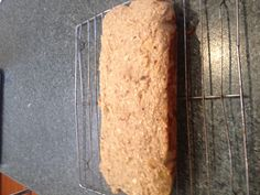 BANANA BREAD!!  Baking powder, bicarbonate soda, bananas mashed, honey, eggs, oat flour, cinnamon = DELICIOUS MOIST CAKE