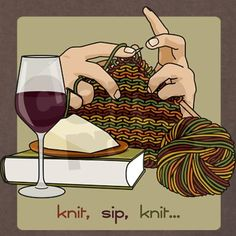 Knit Sip Knit.
