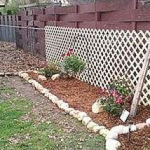 hiding unsightly fence areas
