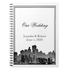 Chicago Destination Wedding Journal Spiral Notebook