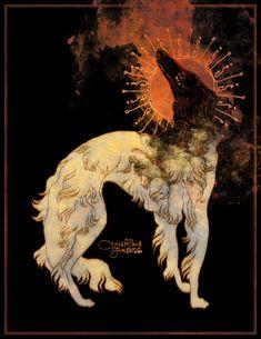 Fiery Beacon Art Print by CanisAlbus - X-Small Arte Obscura, Art Et Illustration, Rabbit Illustration, Art Illustrations, Arte Horror, Wow Art, Art Graphique, Pretty Art, Art Inspo
