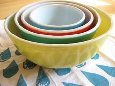 Pyrex Bowls. I have a set of these.  Love them!