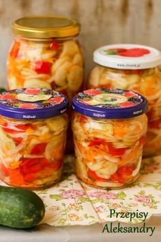 Polish Recipes, Canning Recipes, Kimchi, Fresh Rolls, Preserves, Pickles, Holiday Recipes, Food And Drink, Yummy Food