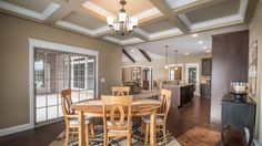 Excalibur Dining - Dining / Breakfast nook of Excalibur model features coffered ceilings