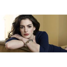 Widescreen Anne Hathaway Wallpaper via Polyvore featuring home, home decor et wallpaper