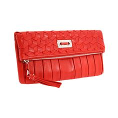 Rafe New York - Zoe Flap Clutch (Red) - Bags and Luggage (1,430 GTQ) ❤ liked on Polyvore featuring bags, handbags, clutches, bolsas, purses, torbe, couture, women's handbags, leather man bags and genuine leather handbags