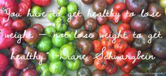 you have to get healthy to lose weight,not lose weight to get healthy