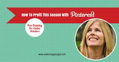 FREE training on how to profit with Pinterest this season and beyond. Grab your spot. There will be a recording if you miss it, but it starts at noon, Oct. 9th. Register now! http://socialmarketingwriting.com/how-to-build-online-influence-with-pinterest-infographic-2/