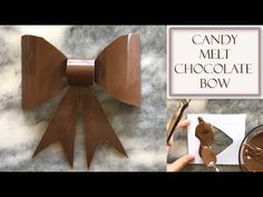 How to Make a Chocolate Bow Using Candy Melts Chocolate Shapes, Melting Chocolate, Chocolate Decorations, Chocolate Desserts, Wilton Candy Melts, Cake Models, Bow Cakes, Green Candy, Homemade Chocolate