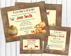 Hey, I found this really awesome Etsy listing at https://www.etsy.com/listing/286932569/winnie-the-pooh-baby-shower-invitation