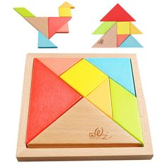 Buy Babies and young children tangram puzzles wooden building blocks wooden puzz… - Kids&Baby Toys Tangram Puzzles, Wooden Jigsaw Puzzles, Wooden Building Blocks, Building Toys, Educational Toys For Kids, Learning Toys, Magic Squares, Kitten Toys, Wooden Buildings