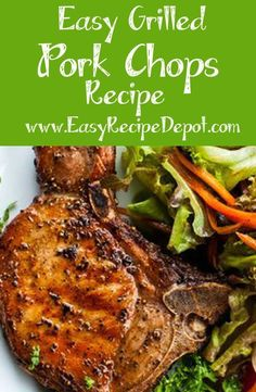 Easy recipe for Grilled Pork Chops. Make the best bone-in pork chops you have ever had right on the grill. Just a few easy steps and ingredients! #GrilledPork