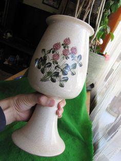 VINTAGE Large Old Vase Flowers