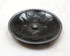 Incense Burner Raven Eagle  Handmade Pottery