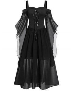 Plus Size Vintage Dresses, Dress Plus Size, Dress Vintage, Vintage Sewing, Gothic Halloween, Vintage Halloween, Halloween Costumes, Black Halloween Dress, Gothic Fashion