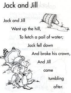 jack and jill nursery rhyme rhymes