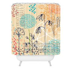 Kerrie Satava Spring Raindrops Shower Curtain | DENY Designs Home Accessories