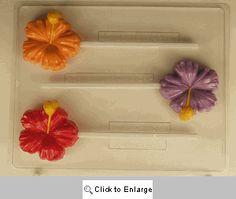 Medium Hibiscus Lollipop Chocolate Mold