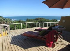 The deck at Yengele Paradise Beach Lodge.