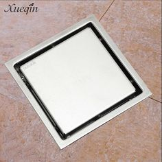 check price xueqin 11x11cm bathroom square floor drain tile insert 304 stainless steel shower waste #square #shower #drain
