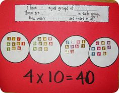 part of activities in multiplication unit on TPT for 5.00
