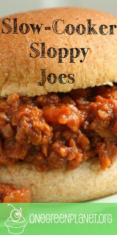 Healthy Tips Slow-Cooker Sloppy Joes [Vegan] FINALLY - This is the kind of recipe you need on hand for those nights that you want a delicious meal, but don't have any time to spend in the kitchen. Vegan Crockpot Recipes, Slow Cooker Recipes, Vegetarian Recipes, Cooking Recipes, Cooking Games, Cooking Ideas, Yummy Recipes, Slow Cooker Sloppy Joes, Vegan Sloppy Joes