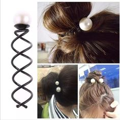 Cheap hair accessories, Buy Quality accessories hair accessories directly from China accessories hair Suppliers: 3 PCS/pack Women Girls Pearl Spiral Spin Screw Bobby Hair Pins Hair Clips Lady Twist Barrette Accessory Hair Accessories Barrette, U Shaped Hair, Thick Hair Styles Medium, Bobby Pin Hairstyles, Pearl Hair Pins, Gold Hair, Hair Accessories For Women, Lady, Hair Bows