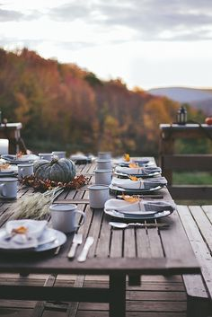 Simple Fall Tablescape, pic  only
