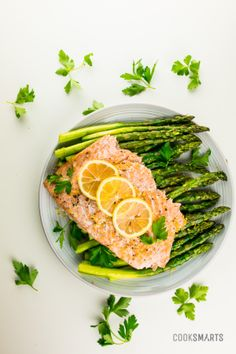 Lemon-Garlic Salmon with Asparagus - Cook Smarts