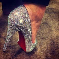 Louboutin: Sparkly. I'd wear them everyday.