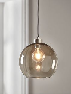 NEW Smoked Glass Pendant - Pendant Lighting - Modern Ceiling Lights - Luxury Modern Lighting Pendant Lighting Bedroom, Kitchen Pendant Lighting, Modern Pendant Light, Glass Pendant Light, Glass Pendants, Glass Ceiling Lights, Ceiling Rose, Ceiling Pendant, Bedroom Ceiling Lights